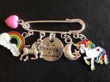 UNICORN ' I really am a Unicorn''  inspired Kilt Pin Brooch Scarf pin gift bag