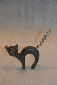 Vintage Brass Corkscrew Cat Shape Baller Austria