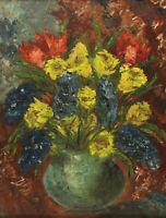 Signiert - Blumenstillleben in einer Vase