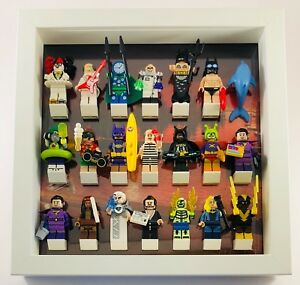 Display Case Frame for Lego Batman Movie Series 2 or 1 minifigures figures 25cm