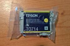 Cartouche jet d'encre Epson original T0714 JAUNE scelée / sealed