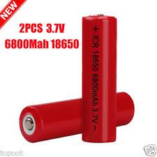 2PCS 3.7V 6800mAh Li-ion Rechargeable 18650 Battery For Flashlight Torch Lamp