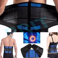 Adjustable Neoprene Double Pull Lumbar Support Lower Back Belt Brace Pain Relief