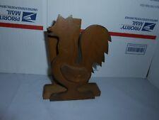 Vtg Enesco Chicken/Rooster Napkin/Letter/Mail/Envelope Holder Country Decor