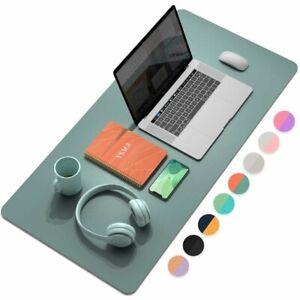 XL Dual-Sided Desk Mat, Waterproof Desk Gaming Mouse Mat - Mint & Peach 90x43