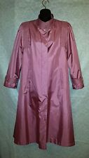 CHIANGO BY FLEET STREET MAUVE RAIN TRENCH COAT  SZ 6 WITH REMOVABLE LINER