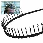 Men Women Unisex Fashion Wave Black Metal Sport Soccer Headband Hairband Gift