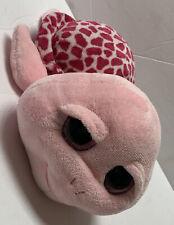 "Ty SHELLBY Pink Sea Turtle Glitter Eyes Beanie Boo Stuffed Animal Plush 10"" HTF"