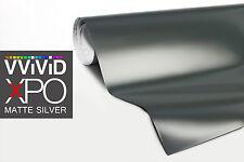 VViViD Silver Matte car vehicle vinyl wrap 1 ft x 5ft cast 3mil car body decal