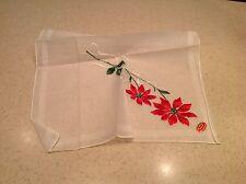 Vintage Ladies Handkerchief Hankies Hanky Switzerland Embroidered Floral Nwt