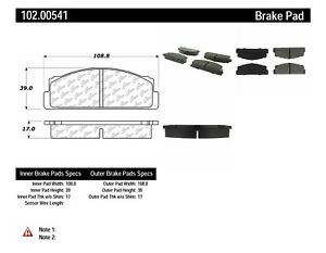 Disc Brake Pad Set-C-TEK Metallic Brake Pads-Preferred Front Centric 102.00541