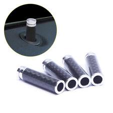 4 Pcs Carbon Fiber Interior Door Lock Knob Pins Handles for Auto Car Truck Cool