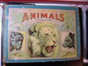 BC41 Vintage 1920-1940 Milton Bradley 6 Puzzle Set - Sectional Animals