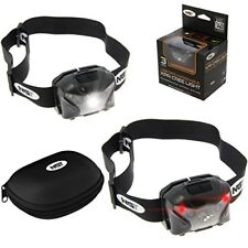 2 X NGT XPR Fishing Light 140 Lumens Rechargeable CREE Head Lamp Torch Camping