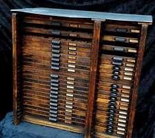 HAMILTON Setzkastenschrank Schubladenschrank Druckerei Setzkasten antik Schrank