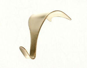 Pack  25 x Picture Rail Moulding Hooks Brass