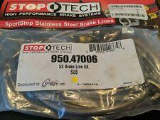 Stoptech Stainless Steel Front Brake Lines Subaru STI 08-14, WRX 08-14