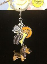 Little Paws Dashund Key Ring, W/Charms, Arora Design NEW, never used
