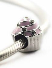 SWEETEST CUPCAKE .925 Sterling Silver European Charm Bead MD3