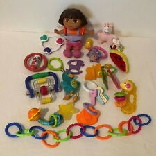 Lot of 17 Baby Toys Rattles Teethers Developmental Play Dora Links Stroller Toy