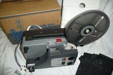 Cine film projector SANKYO dualux 1000 super 8 & std 8mm CD information + BOX