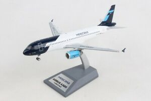 AIRBUS A320-200, MEXICANA, REG: XA-MXW WITH STAND - INFLIGHT 200 IF3200619 1/200