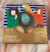 eos 2017 Limited Edition 3-Pack Lip Care Holiday Collection- 3 LE Flavors