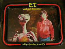 "vintage 12-1/4"" x 17"" Et movie folding Tv Tray - extra-terrestrial alien 1982"