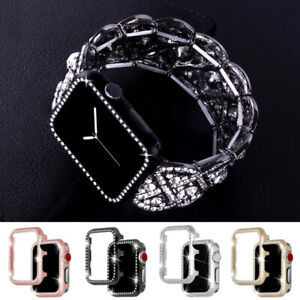 Crystal Watch Band Straps + Case Cover For Apple iWatch Series SE 6 5 4 3 2 1