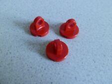 Lego 2376 # 3x Fliese rund 2x2 Rot 7075 7823 6541