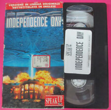 VHS film INDEPENDENCE DAY Will Smith Bill Pullman SPEAK UP inglese (F182) no dvd