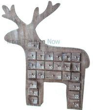 Gisela Graham Fantasy Animal Licorne tête en bois guirlande de Noël Dec 10 cm