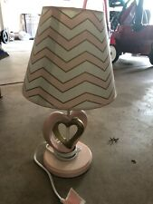Lambs & Ivy Baby Love Lamp with Shade - Pink, Gold, White, Love, Hearts