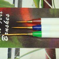 Set De 3 Pinceles Para Decoración de Uñas Acrílicas/Gel/Porcelana Nail Brush