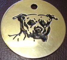 Staffy Grabado Latón LLAVERO Staffordshire Grabado Gratis