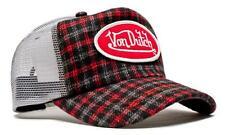 Authentic Brand New Von Dutch Gray/Red Flannel Cap Hat