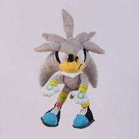 Sonic Silver the Hedgehog Series 11 inch Plush Soft Toy Stuffed Animal Doll