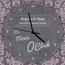 Personalised O'clock Slate Clock Wedding New Sweet Home Anniversary Design Gift