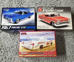 Lot of 3 Model Car Kits. AMT. MPC. Moebius.