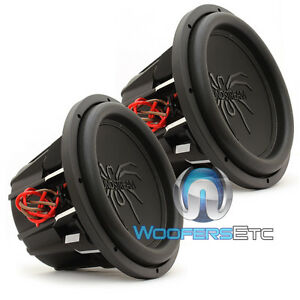 """(2) SOUNDSTREAM T5.124 PRO SUBS 12"""" 4000W MAX DUAL 4-OHM SUBWOOFERS SPEAKERS NEW"""