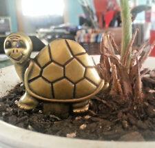 16 Brass Turtle plant stake spade Herb Garden Plant Picks Flower Pot Decor