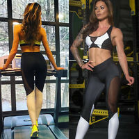 Sexy Women Sports Yoga Pants Running Fitness Leggings Gym Clothes Bra+Pants Sets