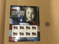 H4) Team USA Flag Peel and Stick Tattoos 4th of July  New Free Shipping