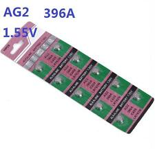 10X Batteries AG2 L726 LR59 379A/96 SR59 Coin Button Cell Battery Watch camera