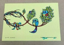 "Marq Spusta ""Some Birds"" Green Yellow Edition Mini Art Print"