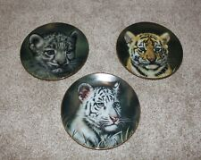 BHG-Princeton Gallery Cubs of the Big Cats Plate Set of 3, 2 with COA & Boxes