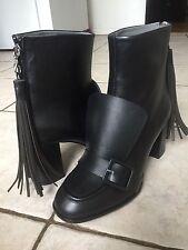 MSGM Tronchetto Black Leather Boots sz.40