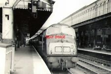 PHOTO  1967 WARSHIP DIESEL AT EXETER ST DAVID'S RAILWAY STATION