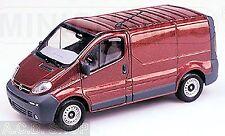 Opel Vivario Delivery Van Furgoneta 2000-06 rot rojo metálico 1:43 Minichamps