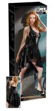 Black Level Lack Kleid mit Schnürung schwarz 2XL Dress Erotik Bekleidung